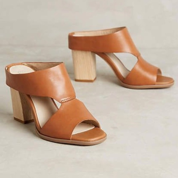 b99dcbfabf9 Anthropologie Shoes - Anthropologie Seychelles Tan Mules With Block Heel